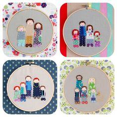 Family portrait - embroidered & appliqued design