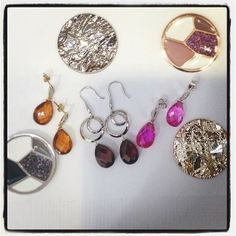 Briolette cut Citrines,Garnets & Pink Topaz earrings to make the summer colorful! Surrounded here with the Mi Moneda Discs that is interchangeable in necklaces! Check them out! #zhaveri #mimoneda #love #jewelry #jewellery #luxury #fashionista #fashionista #earrings #sxm #stmaarten #stmartin #sintmaarten #caribbean #stbarths #beautiful  Read more at http://web.stagram.com/n/zhaveri/#EXrHStmYFs1Wkzqu.99 Zhaveri @zhaveri Instagram photos | Websta