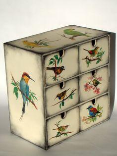 Decoupage wooden box on Pinterest | decoupage box, tea box and decoup…