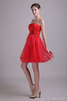Ball Gown Strapless Red Homecoming Dresses sfp1280 - http://www.shopforparty.com/ball-gown-strapless-red-homecoming-dresses-sfp1280.html - COLOR: Red; SILHOUETTE: Ball Gown; NECKLINE: Strapless; EMBELLISHMENTS: Draped , Ruched; FABRIC: Tulle - 184USD