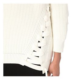 VICTORIA BECKHAM Lace-up knitted jumper (White