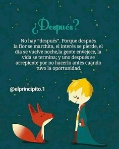 Little Prince Quotes, The Little Prince, Positive Phrases, Motivational Phrases, Positive Affirmations, Spanish Inspirational Quotes, Spanish Quotes, Love Phrases, Love Words