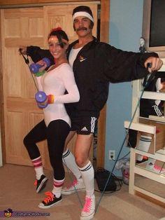 80's Exercise Couple - 2014 Halloween Costume Contest via @costume_works