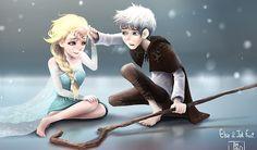 Jack Frost and Queen Elsa - Elsa & Jack Frost Photo (37416516) - Fanpop