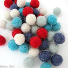 Holiday 160716: Woolen Christmas Decoration Pom Pom Craft Felt Balls Galrand 2Cm 20Mm Treat -> BUY IT NOW ONLY: $82.99 on eBay!