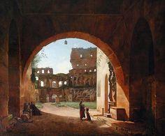 francois-marius granet   François Marius Granet: Vista del interior del Coliseo de Roma ...