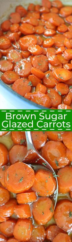You can make these delicious Brown Sugar Glazed Carrots with just three ingredients, carrots, brown sugar, and butter. We make them quickly on the stovetop which makes them perfect for an easy holiday or weeknight side dish. Carrot Recipes, Vegetable Recipes, Vegetarian Recipes, Cooking Recipes, Healthy Recipes, Quick Recipes, Healthy Food, Vegetable Sides, Vegetable Side Dishes