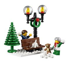 Enjoy the holiday season with the Winter Toy Shop! Lego Christmas Ornaments, Lego Christmas Village, Lego Winter Village, Large Christmas Tree, Toddler Christmas, Lego Creator, Lego Friends, Lego Gingerbread House, Best Lego Sets