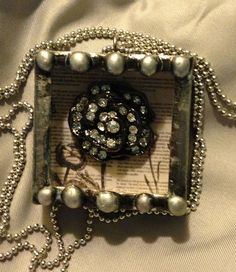 I love how the paper box worked out  so wonderfully for my charm. One of my favorites. I love making these - by Jeannie Thompson Phillips