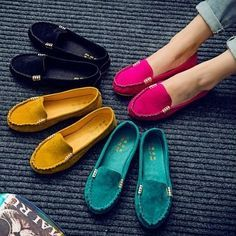 68ff222a1 New Women s Ballet Flats Shoes Fashion Cute Slip On Low Heel Ladies Boat  Shoes Ladies Boat