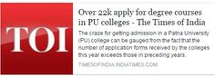 Over 22k apply for degree courses in PU colleges