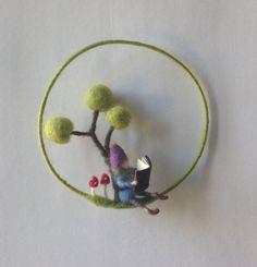 Gnome-Puppe mobile Nadel Filz von lovebluecats auf Etsy