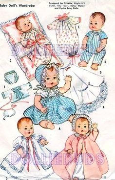 Vintage 8 9 Tiny Tears Ginette Baby Doll Clothes Pattern 2261