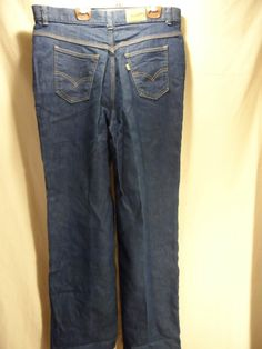 VINTAGE! Womens BlueJeans Pants LEVI 544 STRETCH STRAIGHT Leg 2 Pocket 35x32 #Levis #StraightLeg