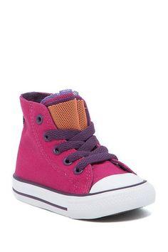0f04e640e9a1 Chuck Taylor Party Hi-Top Cosmos Pink Sneaker (Toddler). Pink SneakersHigh  Top SneakersBig KidsConverse ...