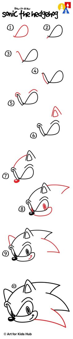 Learn how to draw Sonic The Hedgehog!