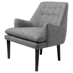Taylor Grey Tufted-Back Accent Chair (.) (Polyester)