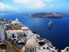 Santorini---- similar view when I was there... ship I traveled on was Royal Carribean Brilliance of the Seas. Amazing trip.
