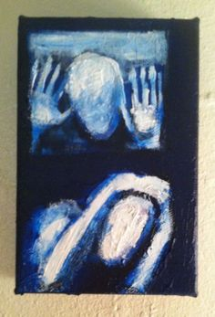 """INVASIVENESS""     5""x7""x2"" acrylic on canvas  , original art by jack larson #Abstract"