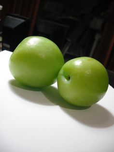 delicious tart green plums
