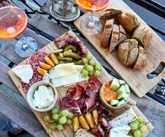 Girls night in with Aperol Spritz and a Mezze board... Yum! Visit my blog for more details! https://debbiehumpston.com