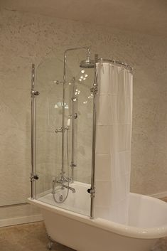 Charmant Oasis Vintage Antique Clawfoot Tub With Glass Shower Surround