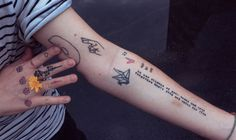 coltre: stick and pokes I've got made by... | 4am thoughts.