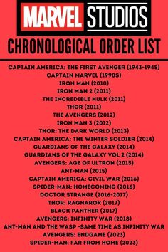 Best Order to Watch All the Marvel Movies: Chronological Vs. Release