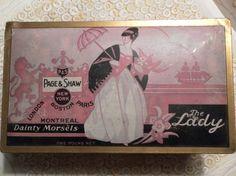 Vintage candy box