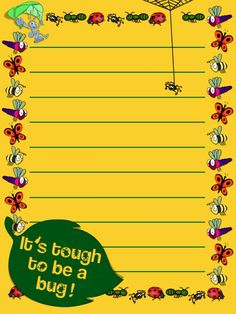 "It's Tough To Be A Bug  - Project Life Journal Card - Scrapbooking. ~~~~~~~~~ Size: 3x4"" @ 300 dpi. This card is **Personal use only - NOT for sale/resale** Logos/clipart belong to Disney/Pixar. Bugs from www.clker.com . Font is Coolvetica http://www.dafont.com/coolvetica.font  ***Click through to photobucket for more versions of this card :) ***"