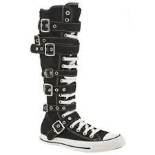 aj lee knee high converse