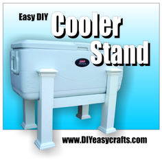 East DIY Cooler Stand. This how to video shows how easy it is to make a custom stand for your cooler. You will never have to bend down to get a cold drink from your cooler again. Project uses a Coleman150 quart cooler but the stand measurements can be modified to fit almost any cooler. Easy project takes less than 2 hours. Free plans and downloadable PDF materials list available. http://www.diyeasycrafts.com/