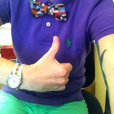 Could I be any more prep? #crotchshot #dapperq #colours #preppy #menswear #wiwt #ootd #bowtiefly #bowtie #tattoo #WhatLLworeToday