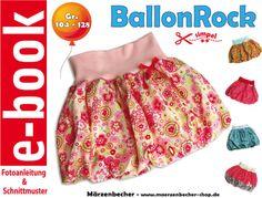 Nähanleitungen Kind - e-book BallonRock Gr- 104-128 - ein Designerstück von Maerzenbecher bei DaWanda