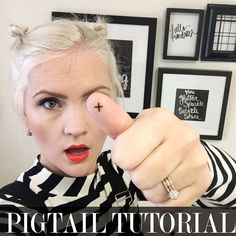 I have received a lot of requests for a pigtail hair tutorial because of the pixie pig tails I have been sporting lately. Wait till you see how easy it is!