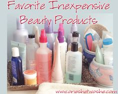 Great list of inexpensive beauty products and where to find them! www.oneshetwoshe.com