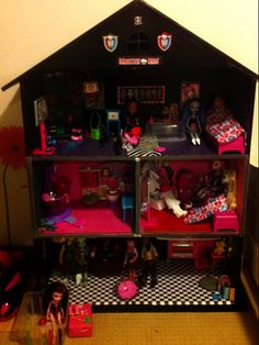 homemade doll house | monster high doll house my mom and i made - Monster High Dolls .com
