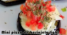 Mini pizza de berinjela - Receita fit #receitas #receitasfit #receitaslight #pizza