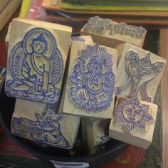 ever notice our wooden stamps and prayer flag block stamps?  These stamps are hand carved in Nepal...each one is very special  #art #handcrafted #handmade #atx #Namaste # by mandalatibetanshop