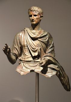 Propaganda played an important role in Octavian (l. 63 BCE - 14 CE) and Mark Antony's (l. 83 – 30 BCE) civil war, and once victorious at the Battle. Ancient Rome, Ancient History, Second Triumvirate, Rome Exhibition, Battle Of Actium, Mark Antony, History Encyclopedia, Equestrian Statue, Empire Romain