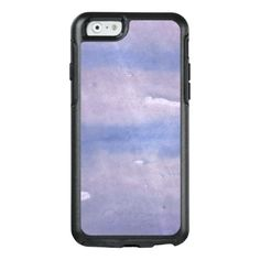 Purple Blue abstract watercolor pattern OtterBox iPhone 6/6s Case - blue gifts style giftidea diy cyo