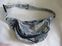 Vintage Acid Wash Demin Fanny Pack by VintageByThePound on Etsy, $32.00