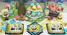 Another Spongebob table setting