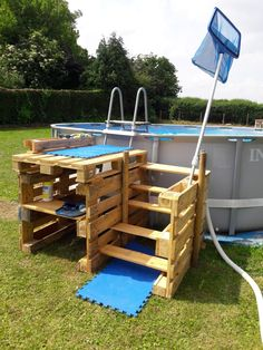 Pool secure fencings are ideal for personal privacy along with defense. However you can still appreciate developing your pool fence. Below are 27 Outstanding pool fence ideas! Above Ground Pool Landscaping, Above Ground Pool Decks, In Ground Pools, Modern Landscaping, Landscaping Ideas, Acreage Landscaping, Pool Fence, Pallet Pool, Pallet Decking