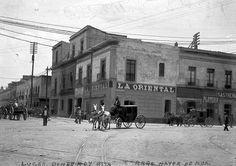 foto de 1890 ciudad de México, ahora en ese lugar ahora está un costado del Palacio de Bellas Artes.