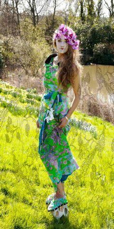 Beautiful Kimono Jacket and Oriental shoe designs by Scarlett Stewart Fashion Photography by Chiara Rose Simpson
