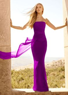Pretty color: cassis at David's bridal - bridesmaid dress?