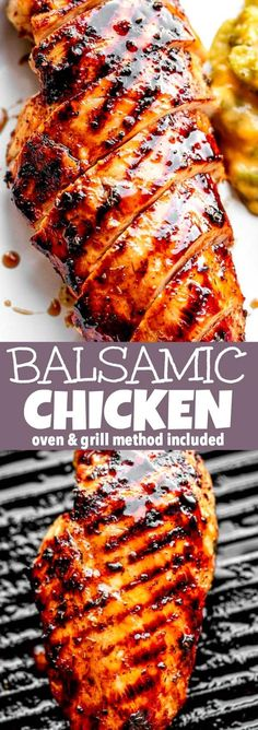 These tender Balsamic Marinated Chicken Breasts are easy to make in the oven or on the grill! You are going to love this flavorful and super juicy chicken dinner recipe. #balsamicchicken #chickenbreasts #grilledchicken #bakedchicken Balsamic Chicken, Marinated Chicken, Grilled Chicken, Baked Chicken, Grilling Recipes, Cooking Recipes, Healthy Recipes, Easy Recipes, Grilling Ideas