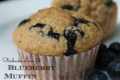 DIY Starbucks Low-Fat Blueberry Muffins {freezer friendly}