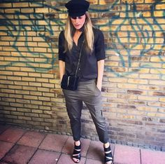 One of my favorite outfits.  #styling #stylist #style #styleinspiration #fashion #fashionstylist #fashioninspiration #outfit #outfitoftheday #outfitinspiration #leather #black #army #armygreen #heels